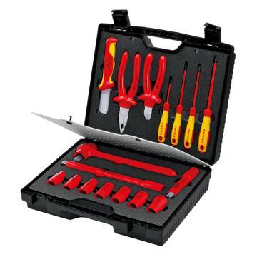 凯尼派克 Knipex 紧凑型绝缘工具组套,17件套,98 99 11