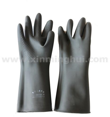 ANJIAN安健 乳胶手套36CM黑加厚