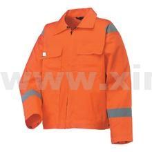 大红阻燃工作服上衣加反光条