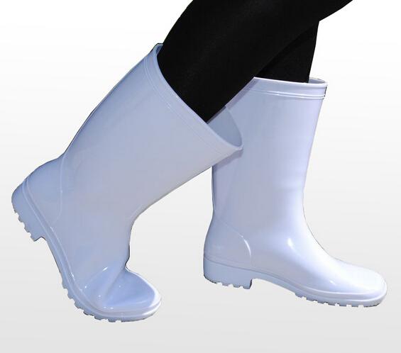 胜利隆泡沫食品靴白色38
