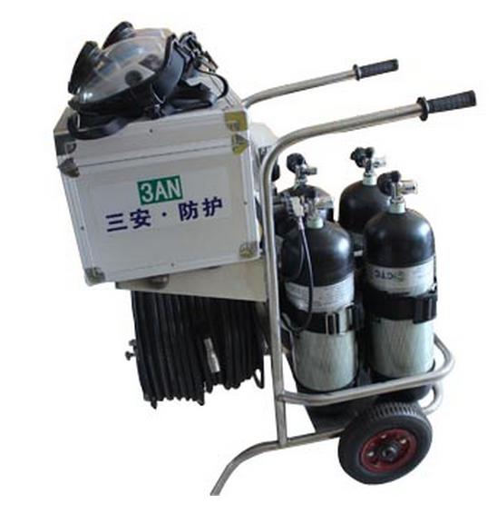 三安CHZK-4 移动供气源6.8L气瓶四瓶2个面罩30米管