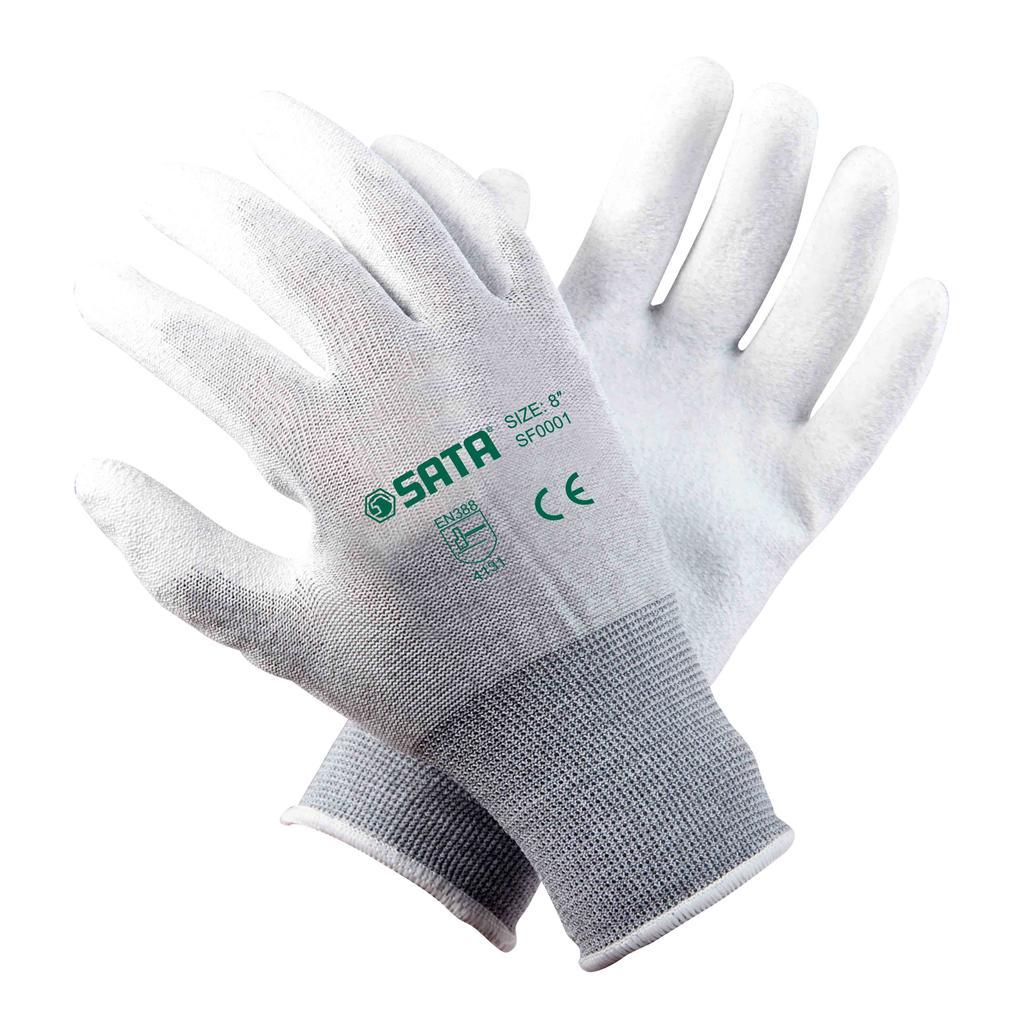 世达SF0001 聚酰胺碳纤维防静电手套 8