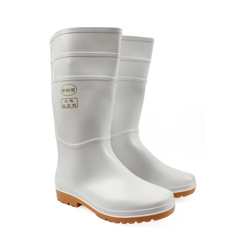 安斯盾高筒水靴白色45