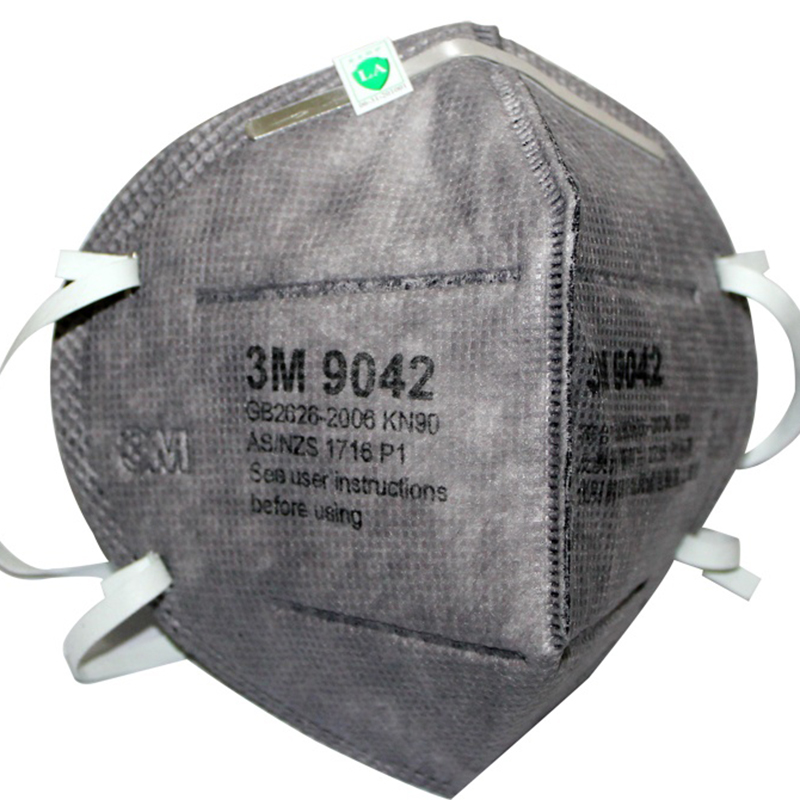 3M 9042 KN90有机蒸气异味及防颗粒物活性炭防尘口罩(头带式/标准号)(退市 替代款9542)