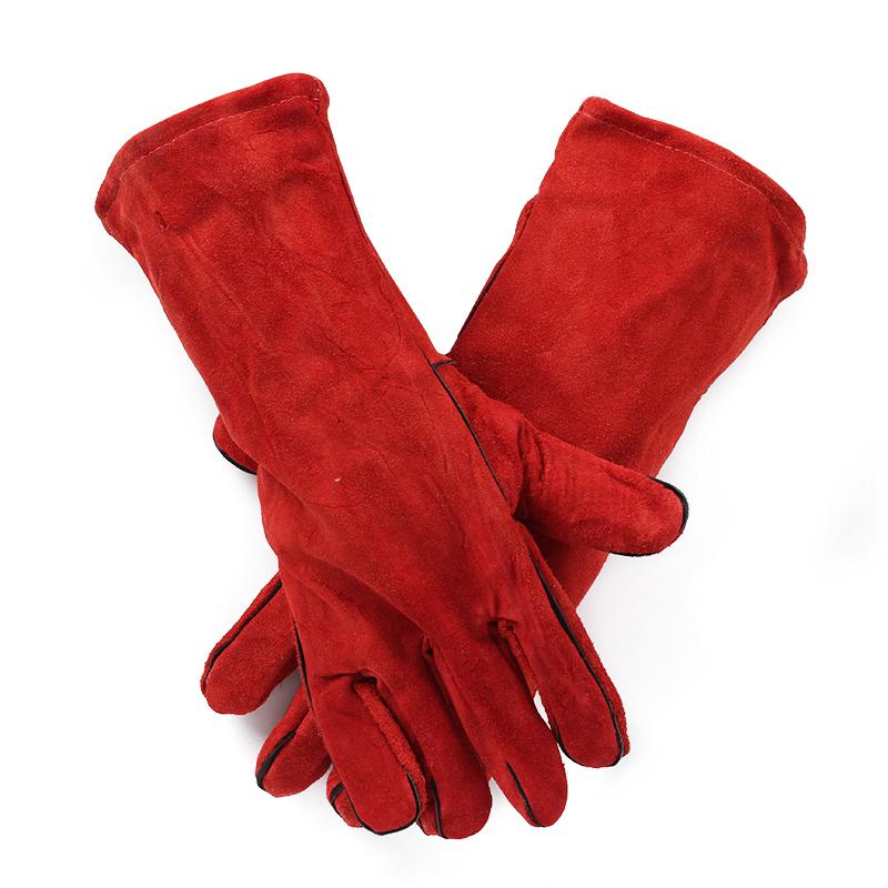 二层加厚电焊手套(红色)