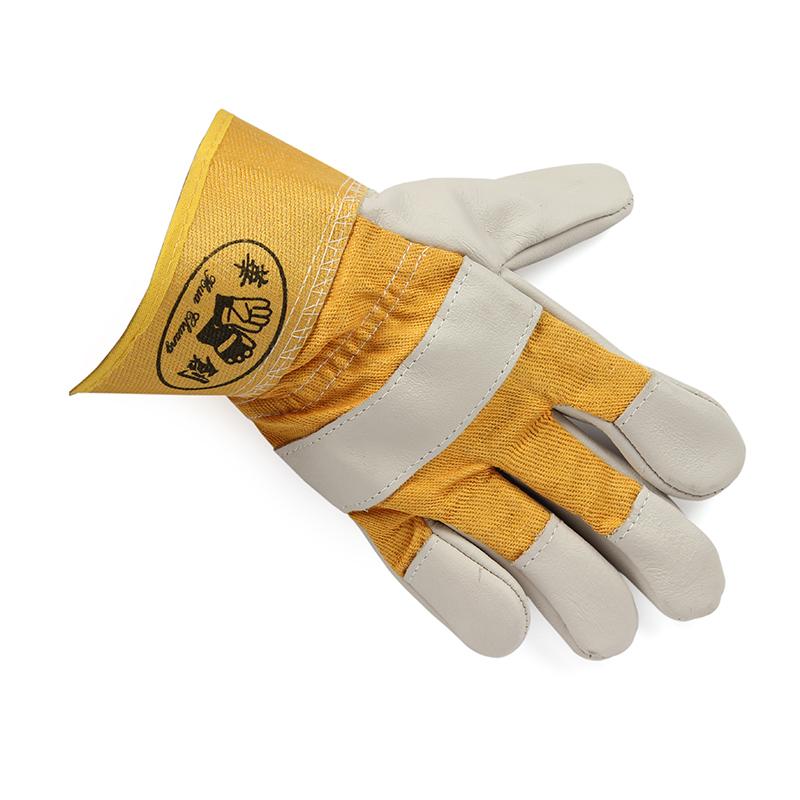 黄布一层全掌手套 浅色