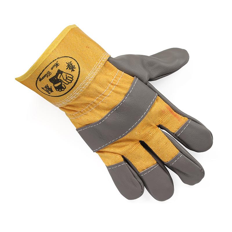 黄布一层全掌手套 深色