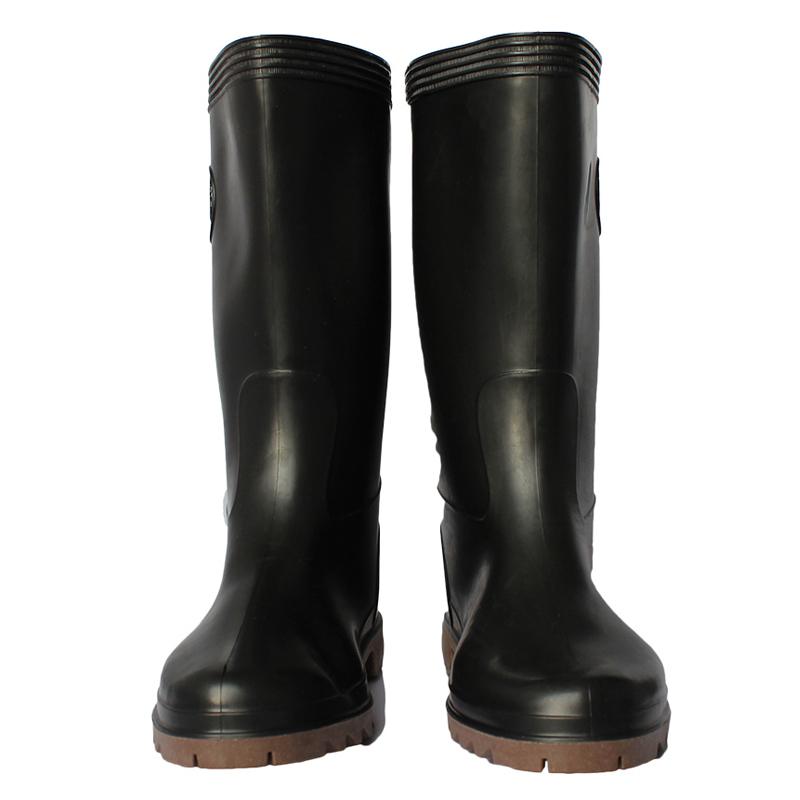 红叶耐油高靴食品靴 黑色 41