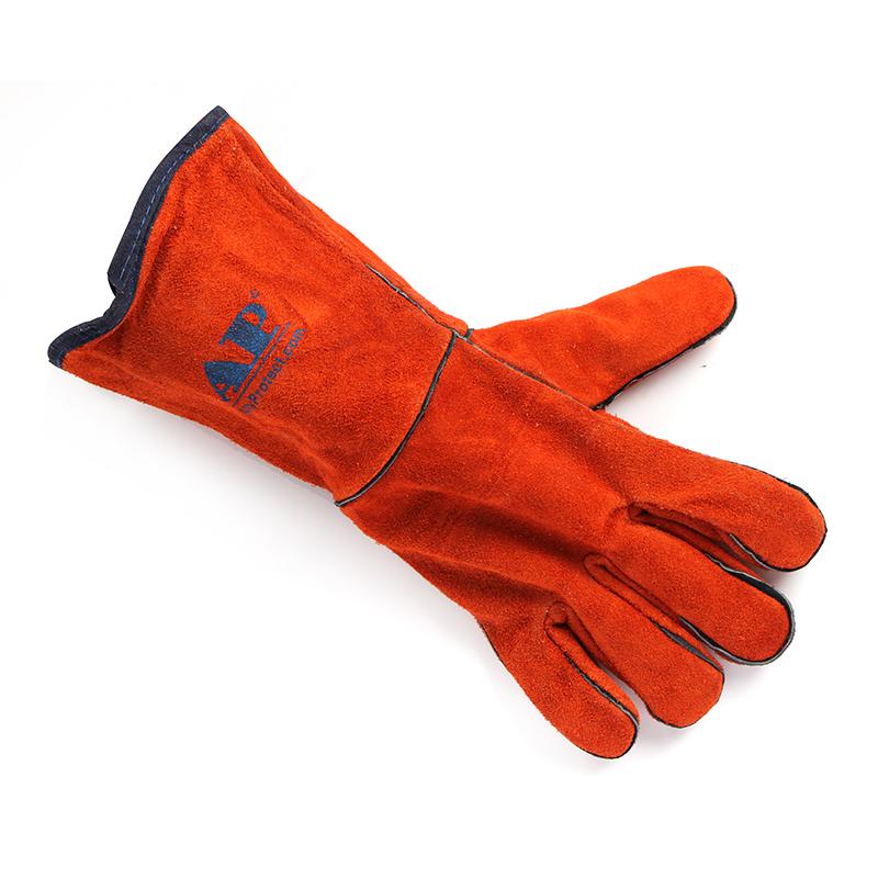 友盟AP-2103-L锈橙色经济款烧焊手套