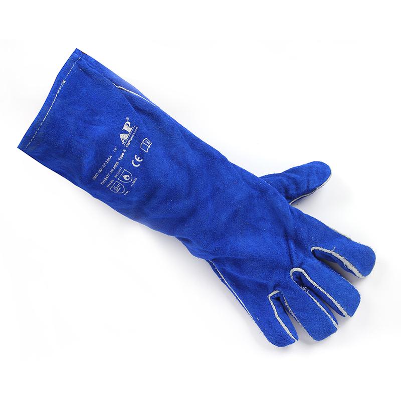 友盟AP-2054-L 彩蓝色加长烧焊手套
