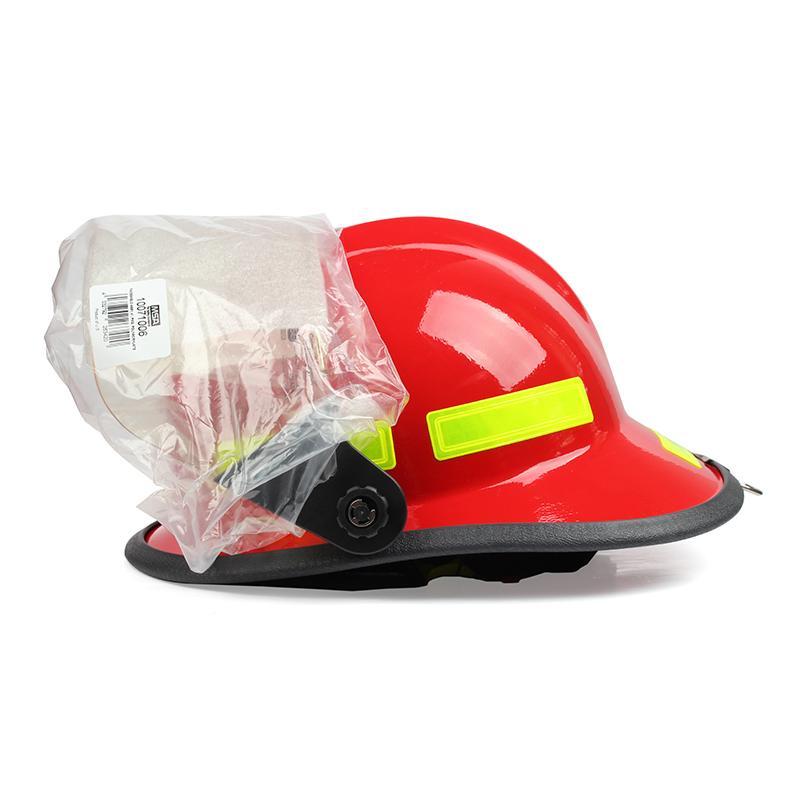 梅思安 10107117-a F3美式铝质披肩消防头盔 红