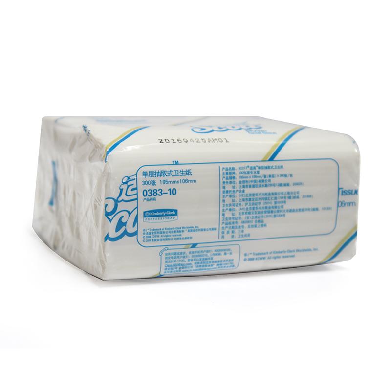 金佰利0383-10 SCOTT® 抽取式卫生纸(单层)