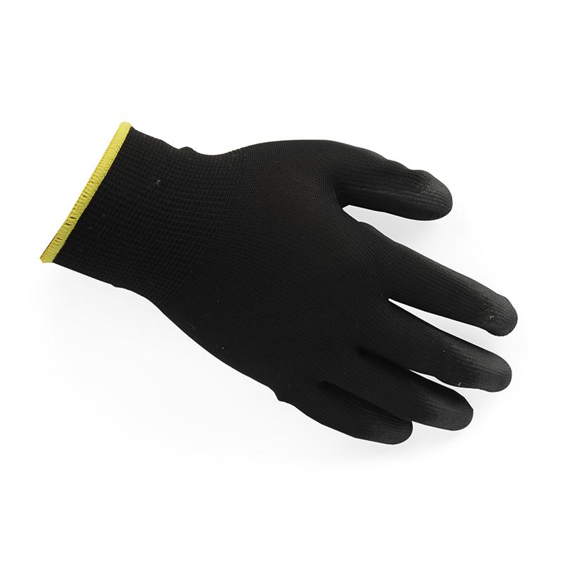 Honeywell霍尼韦尔WE210G2CN 经济款亲民二代聚氨酯PU涂层涤纶工作手套(黑)