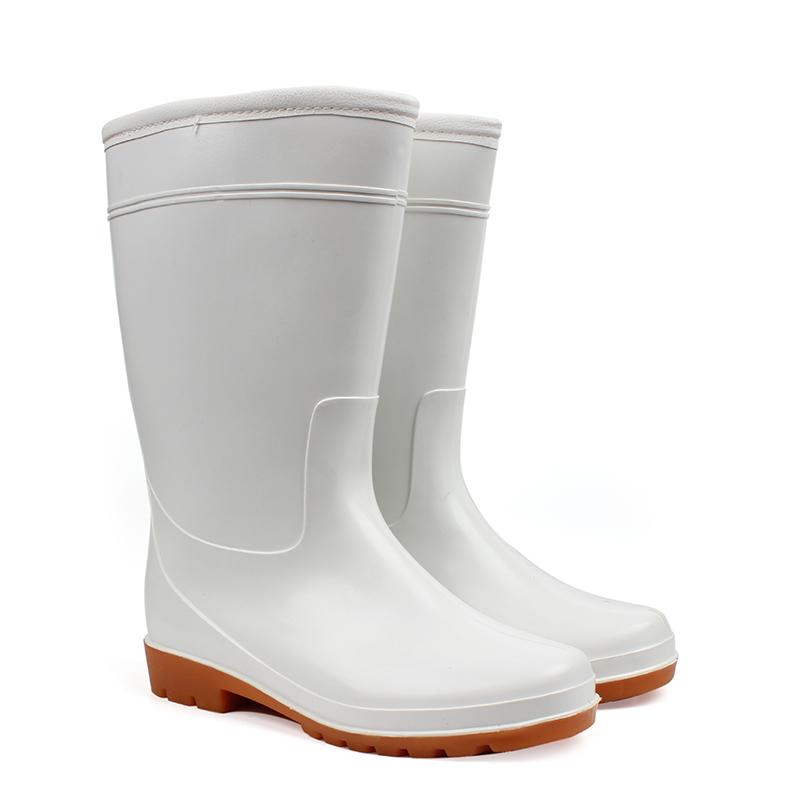 JIDUN HONGJIAN/吉盾 / 宏剑 吉盾中筒耐油加棉食品靴 白色