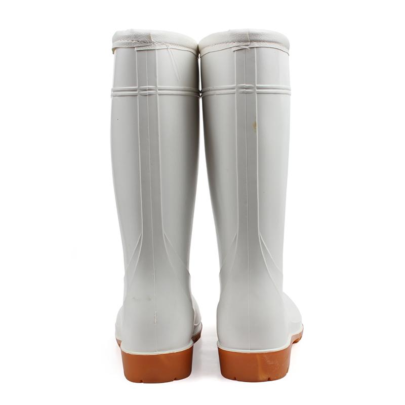 吉盾中筒耐油加棉食品靴 白色 36
