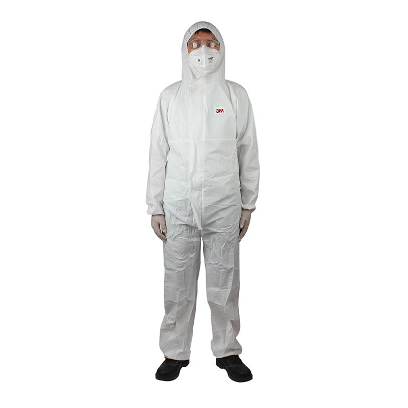 3M 4510白色带帽连体防护服