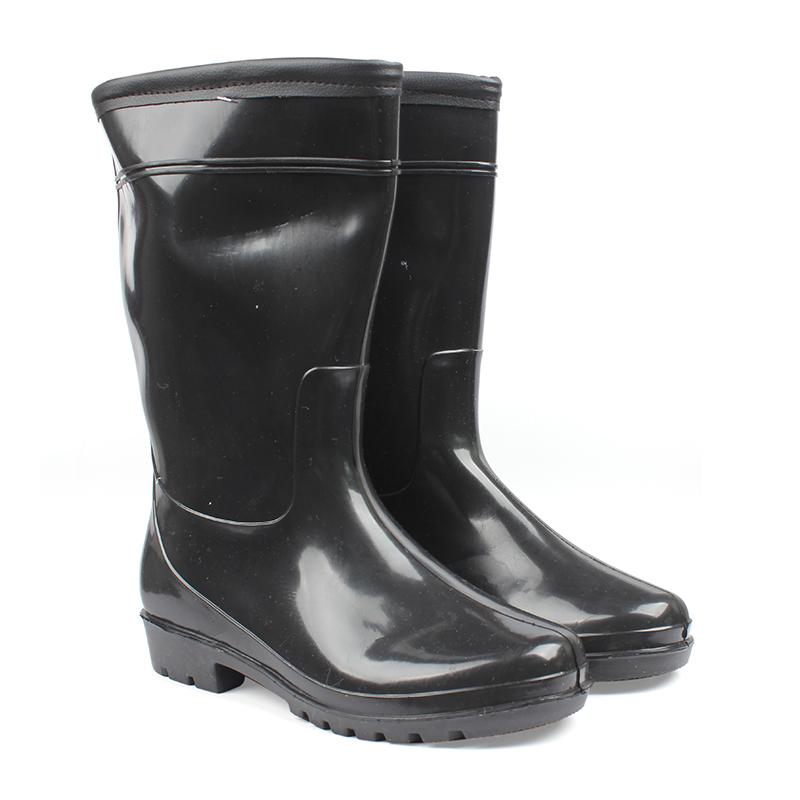 JIDUN HONGJIAN/吉盾 / 宏剑 吉盾中筒耐油加棉食品靴 黑色 36