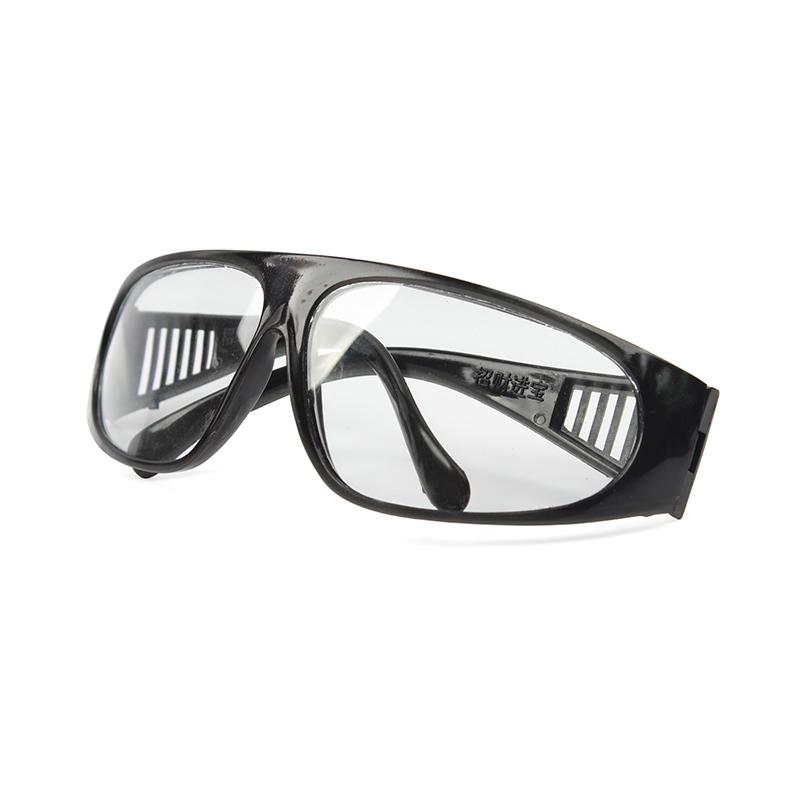 (盒)平光眼镜(宽镜腿 黑架 209防护眼镜 白片)