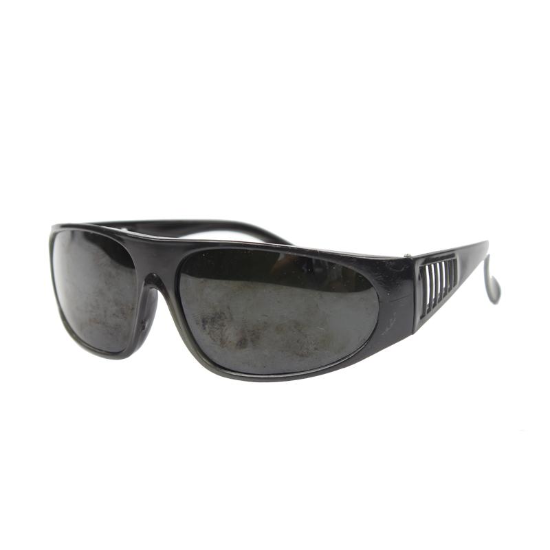 电焊眼镜(宽镜腿 黑架 盒装 209防护眼镜 黑片)