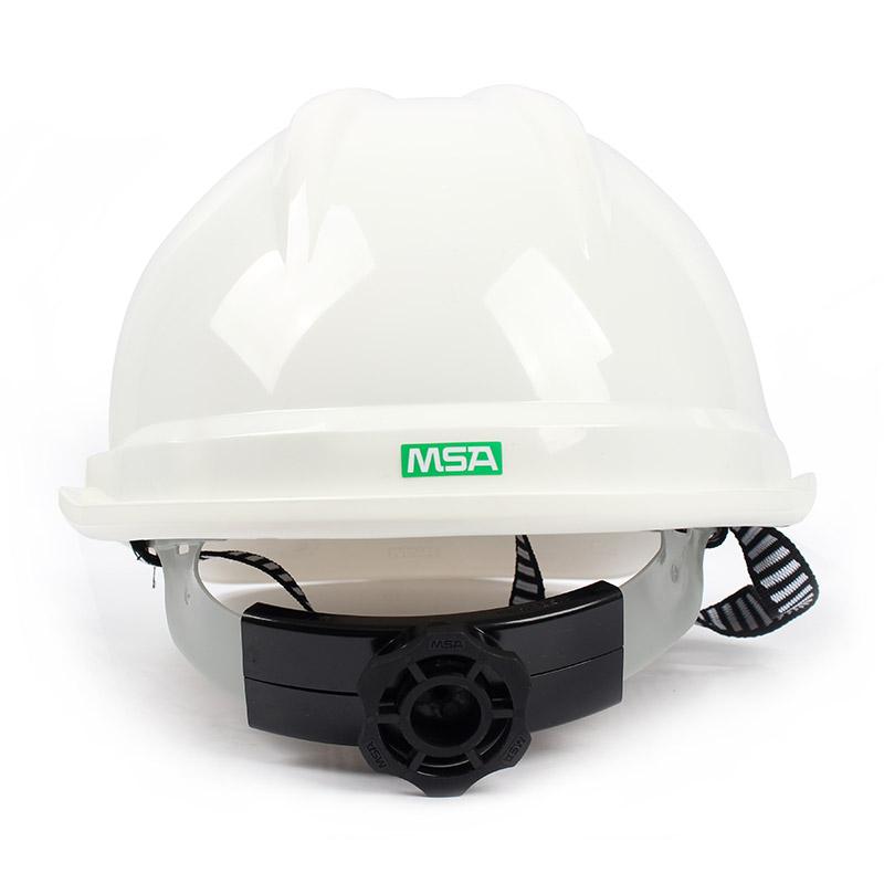 梅思安 10108798 豪华PE白色安全帽轻旋风帽衬针织布吸汗带D型下颌带