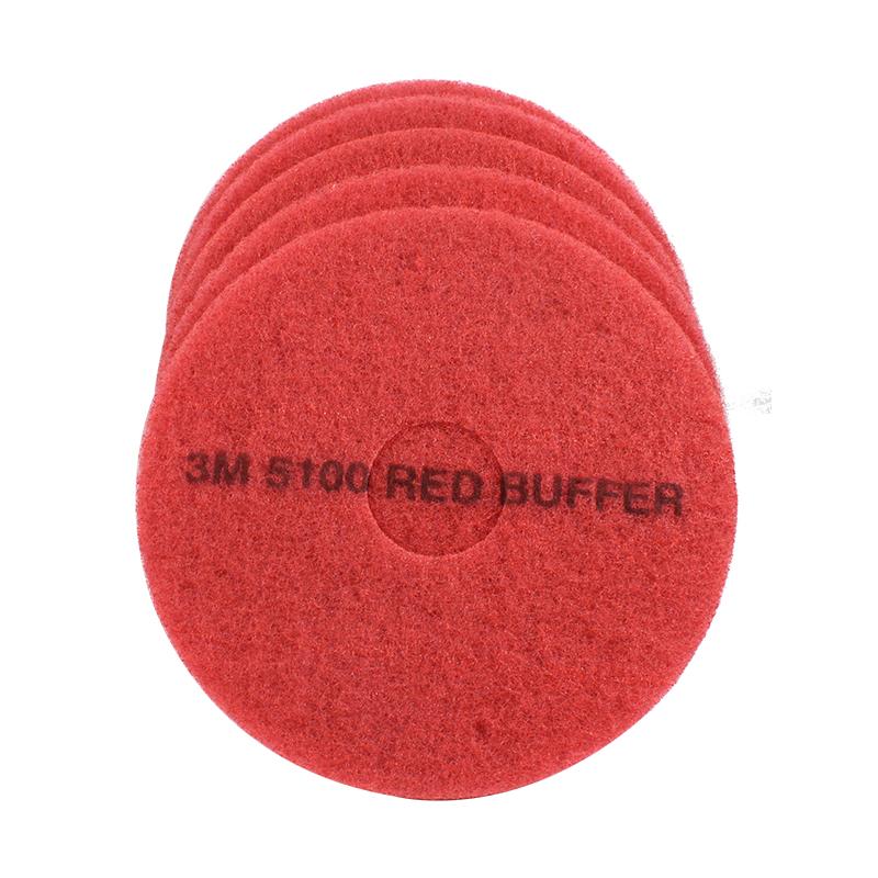 3M5100红色清洁垫14英寸
