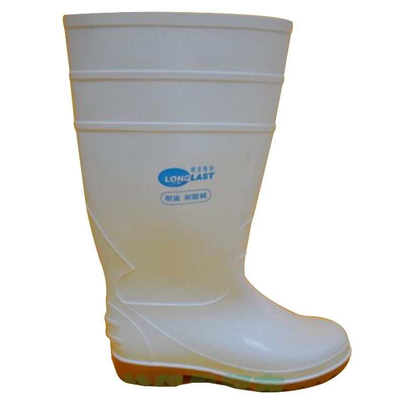 朗莱斯特耐油耐酸碱高筒靴白色37