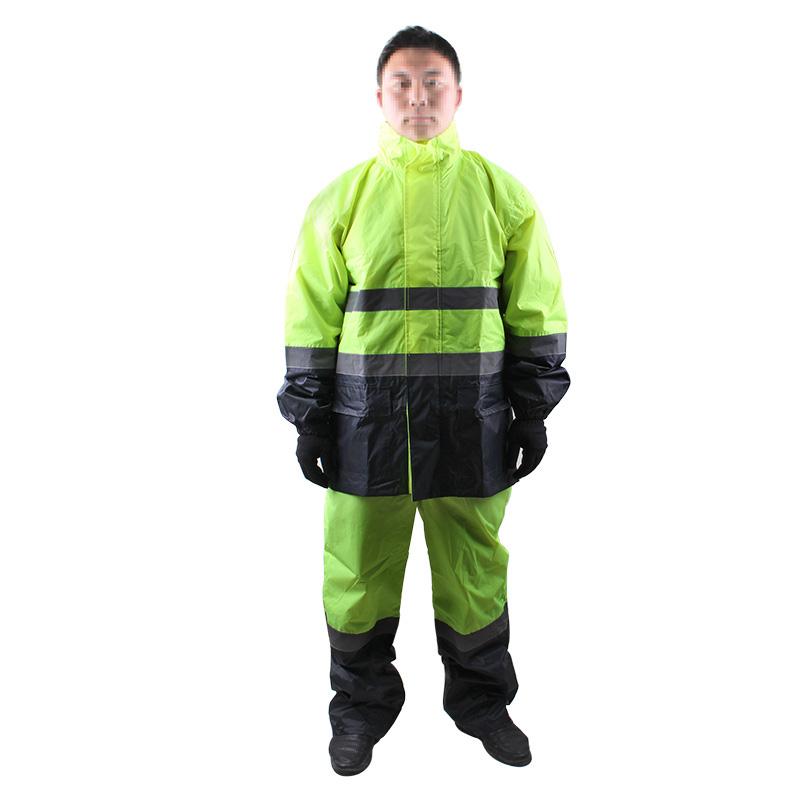 3M R2912 荧光黄拼色PVC防水安全警示服-XXXL(190)(尺码偏大1-2码)