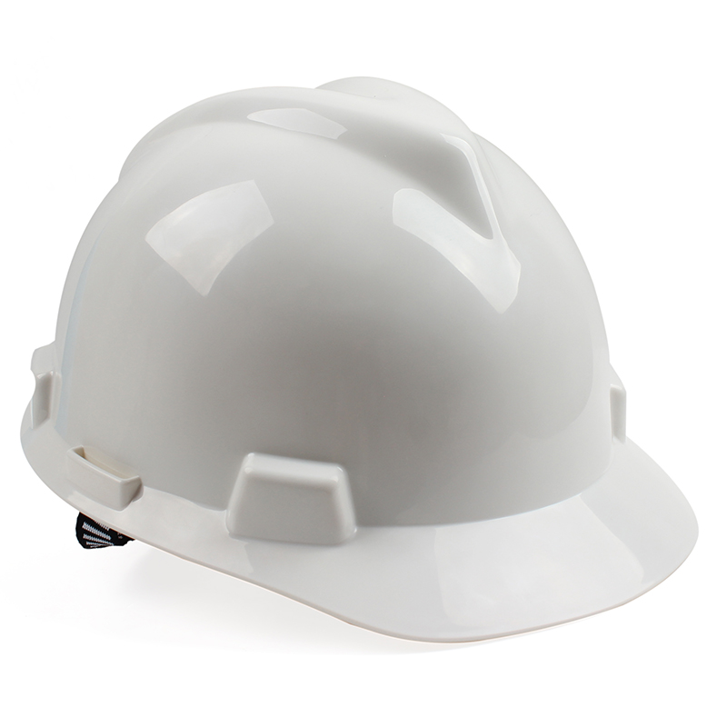 MSA/梅思安 V-Gard标准型PE安全帽 一指键帽衬针织布吸汗带 D型下颌带