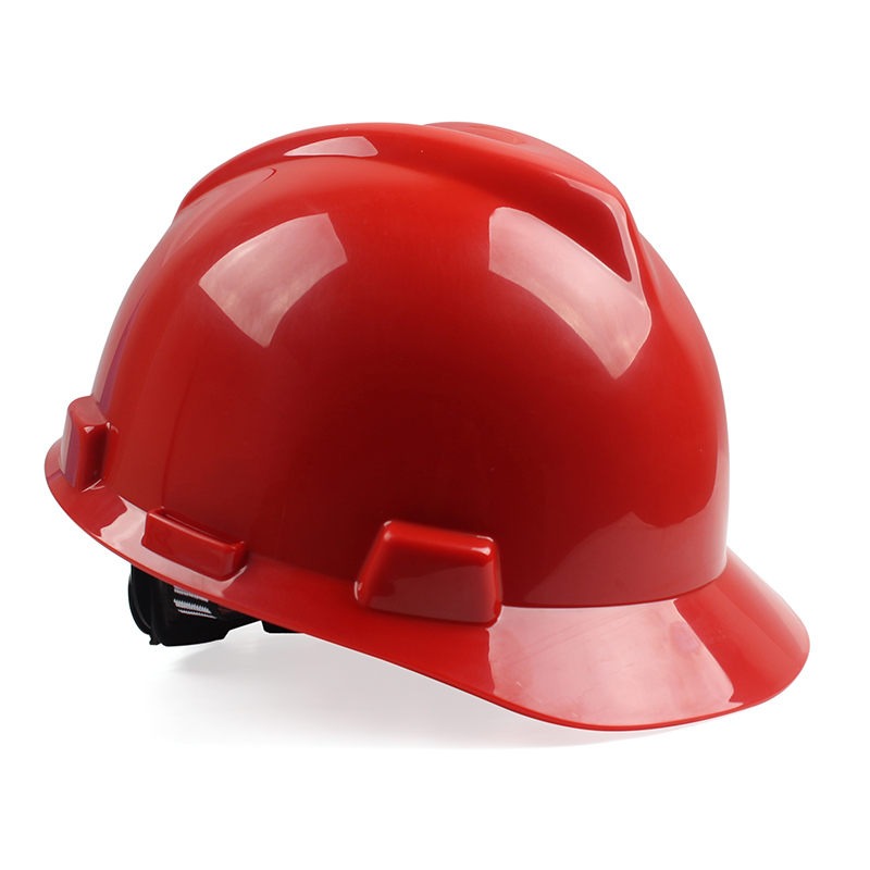 MSA梅思安10172879V-Gard ABS 标准型安全帽 ABS帽壳 超爱戴帽衬 灰针织吸汗带 D型下颚带