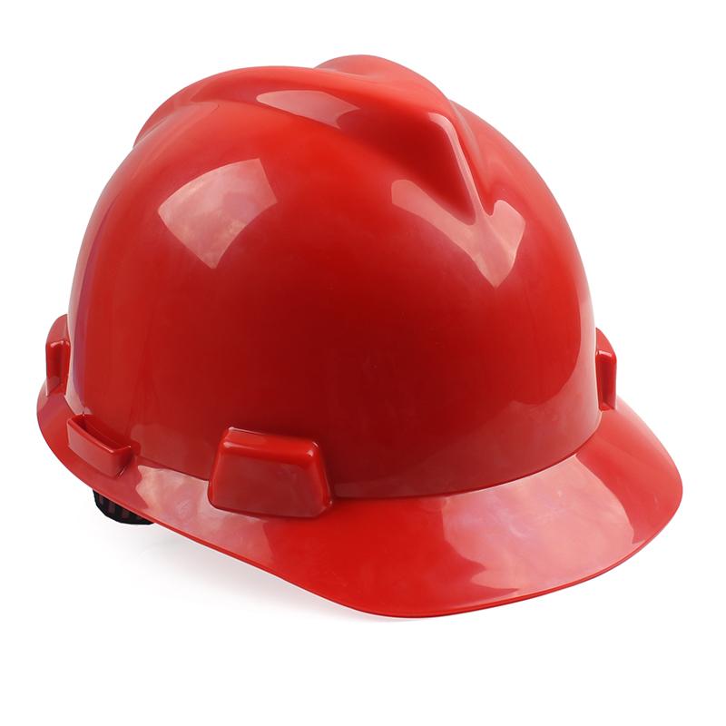 MSA/梅思安 V-Gard标准型ABS安全帽 一指键帽衬针织布吸汗带 D型下颌带