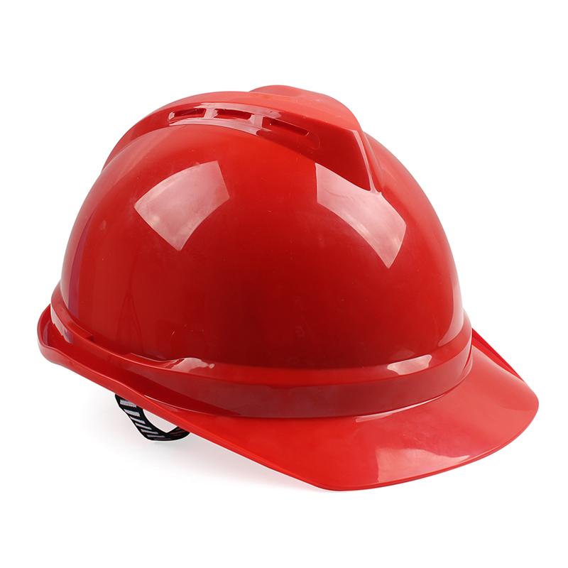 MSA/梅思安 V-Gard500豪华型PE安全帽带透气孔帽壳 一指键帽衬针织布吸汗带 D型下颌带