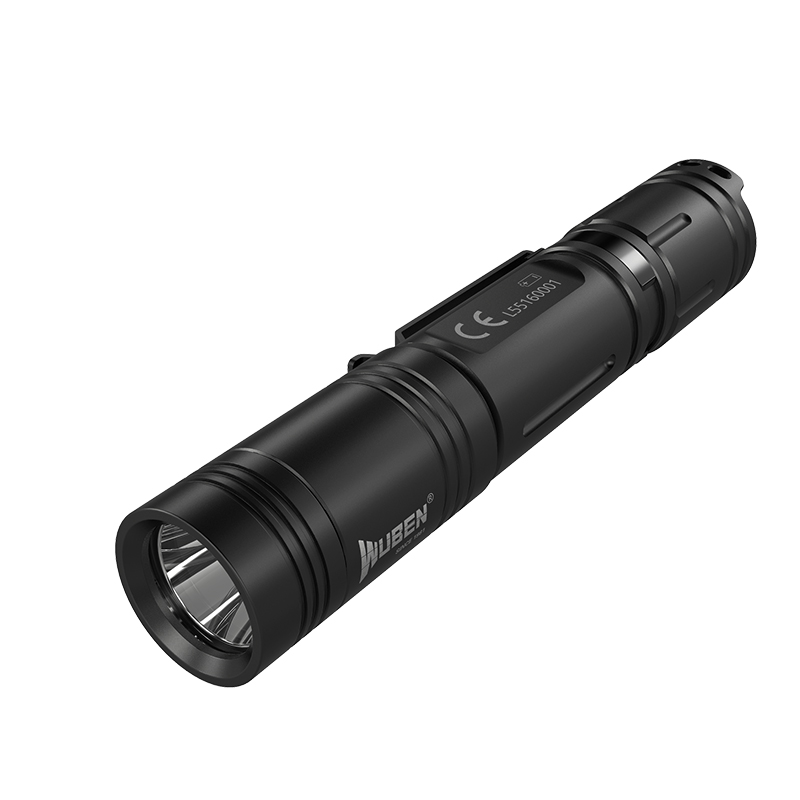WUBEN务本 L50黑色 WUBEN务本L50强光可充电电筒1200流明