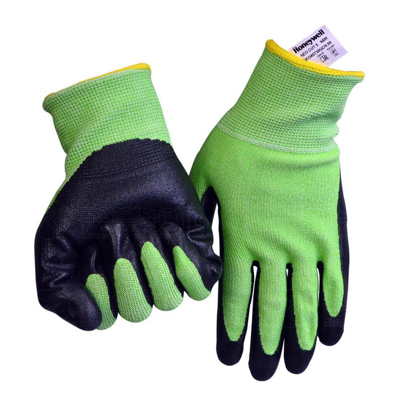 霍尼韦尔NEO45740GCN-08 NEOCUT5乳胶涂层HPPE5级防割手套-8
