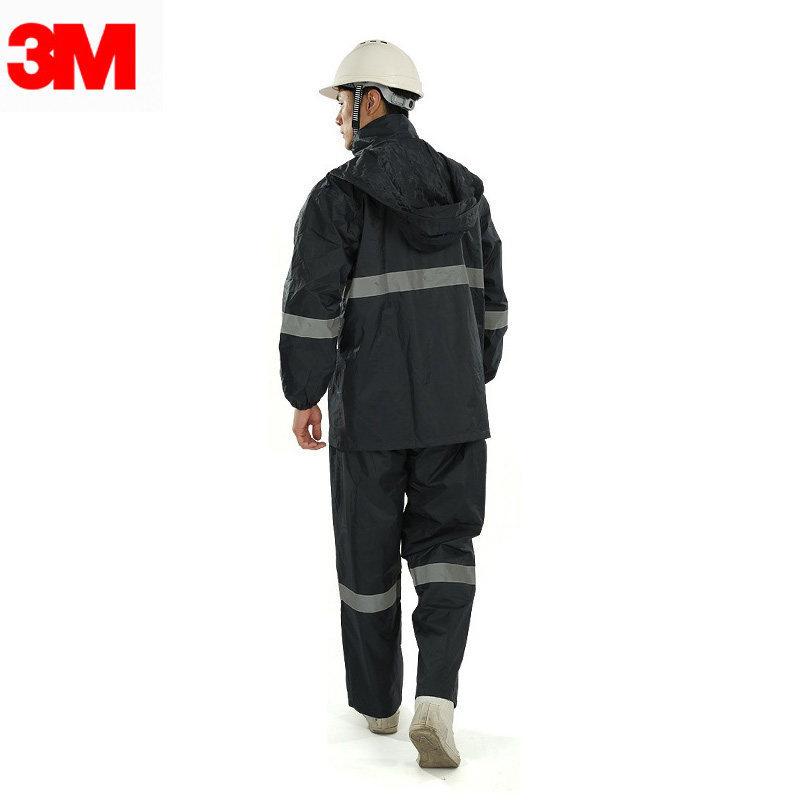 3M  R2911 藏青色PVC防水安全警示服-XXL(185)(尺码偏大1-2码)