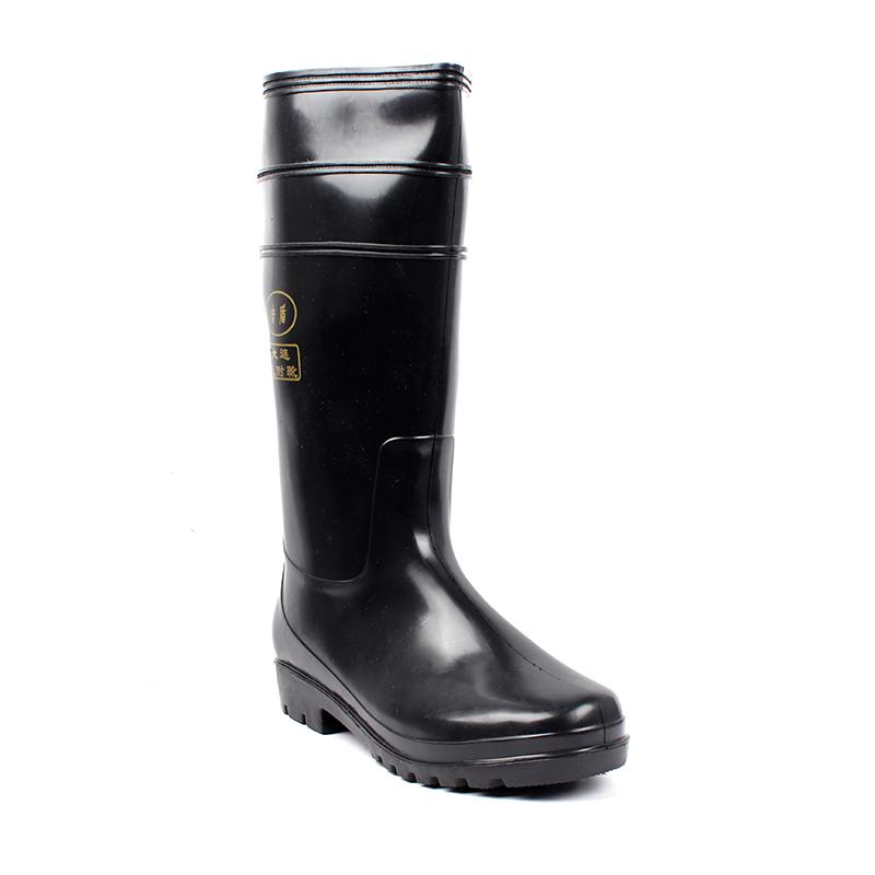 吉盾高筒水靴黑色38