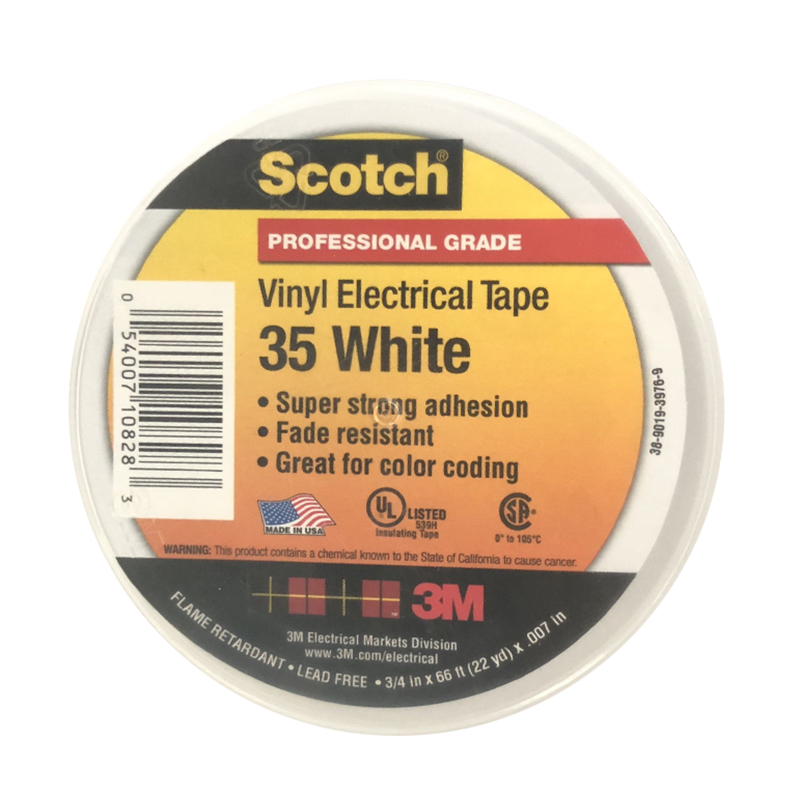 3M Scotch35号特优型电气绝缘胶带 白色