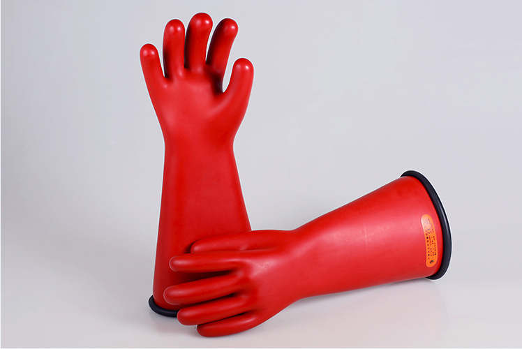 双安4级16英寸乳胶带电作业用绝缘手套10号