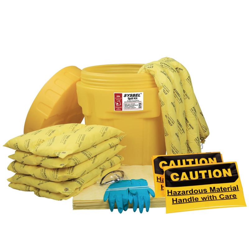 SYSBEL/西斯贝尔 SYK201 20加仑泄漏应急处理桶套装(防化类)