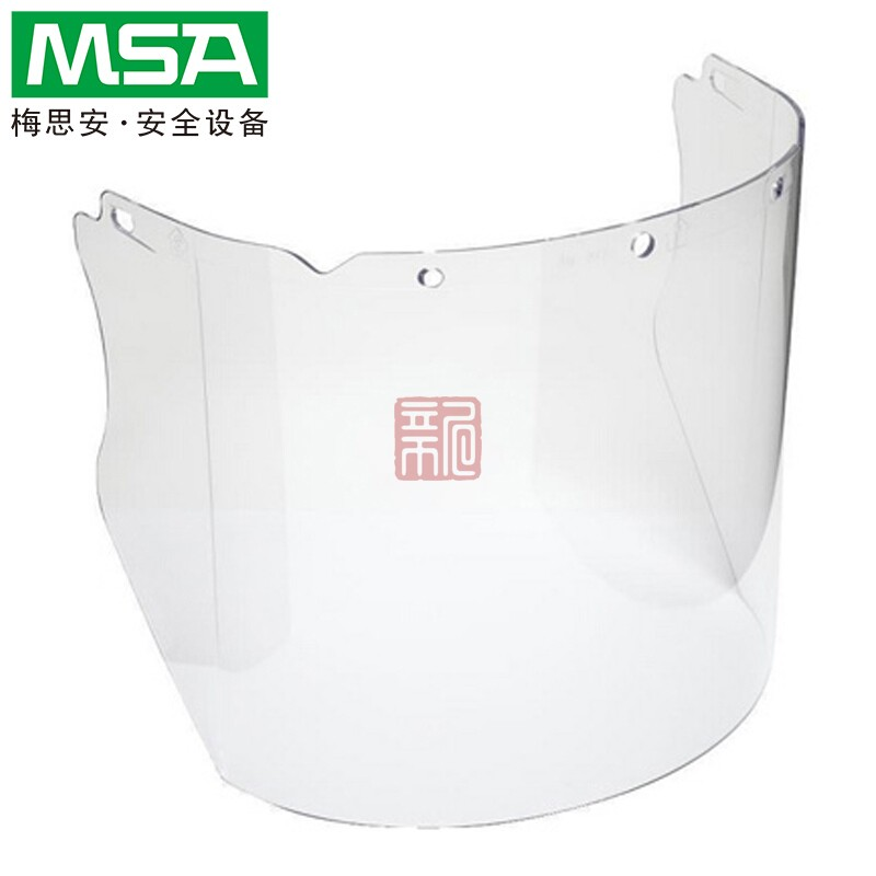梅思安10115836 PC材质透明防护面屏封面