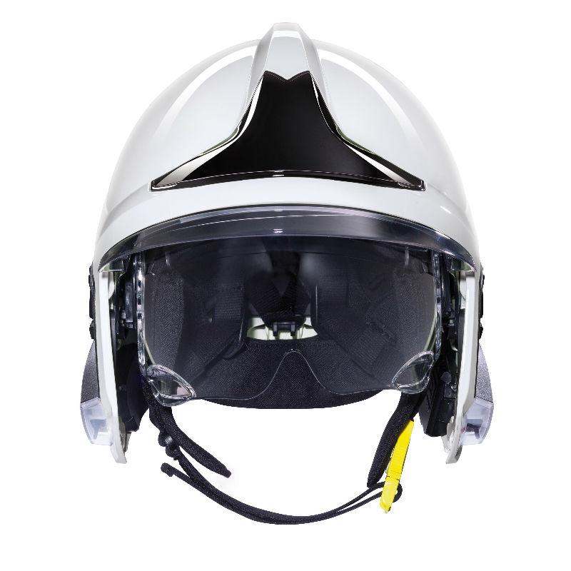 梅思安10158869 消防头盔 F1XF 中号 白色 带照明和支架
