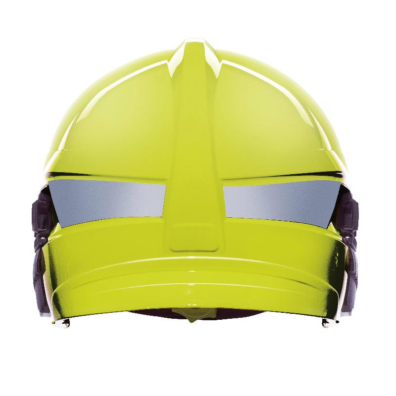 梅思安10158871消防头盔 F1XF 大号 黄色 带电筒支架