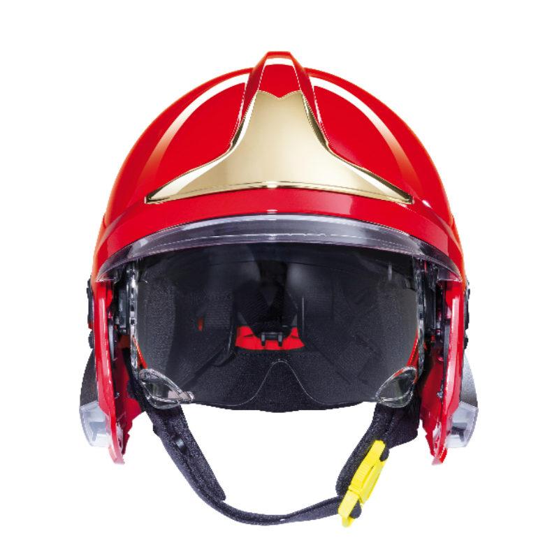 梅思安10158873 消防头盔 F1XF 大号 红色 带照明模组