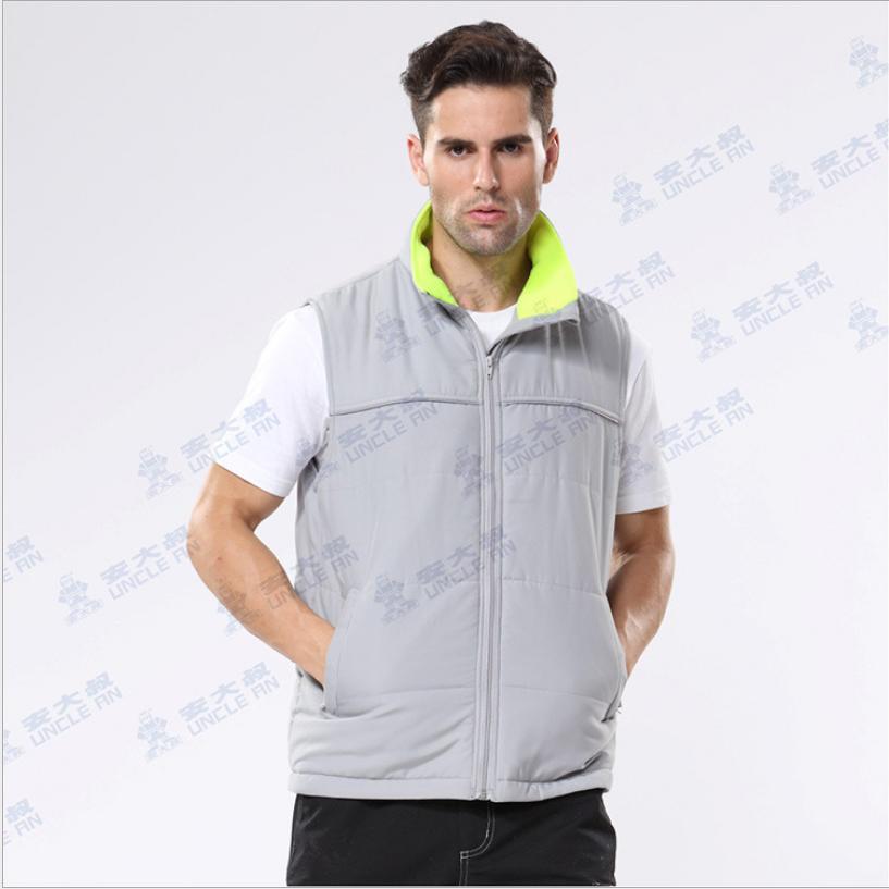 安大叔A233 3M新雪丽高效暖绒户外灰色反光防寒背心3XL