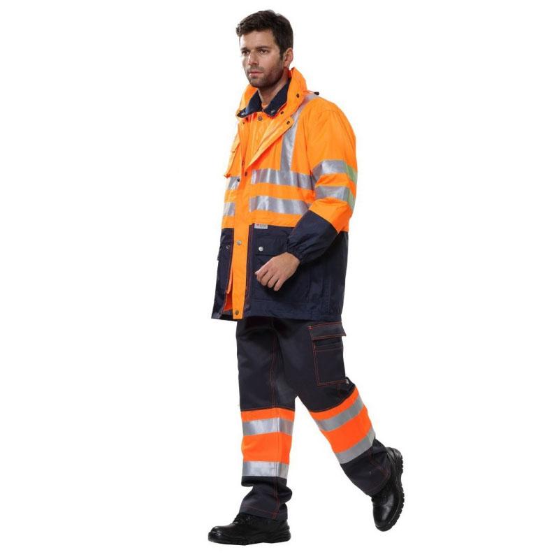 安大叔B008荧光橙3M视觉丽反光材料 新雪丽高效暖绒高警示防寒服XS