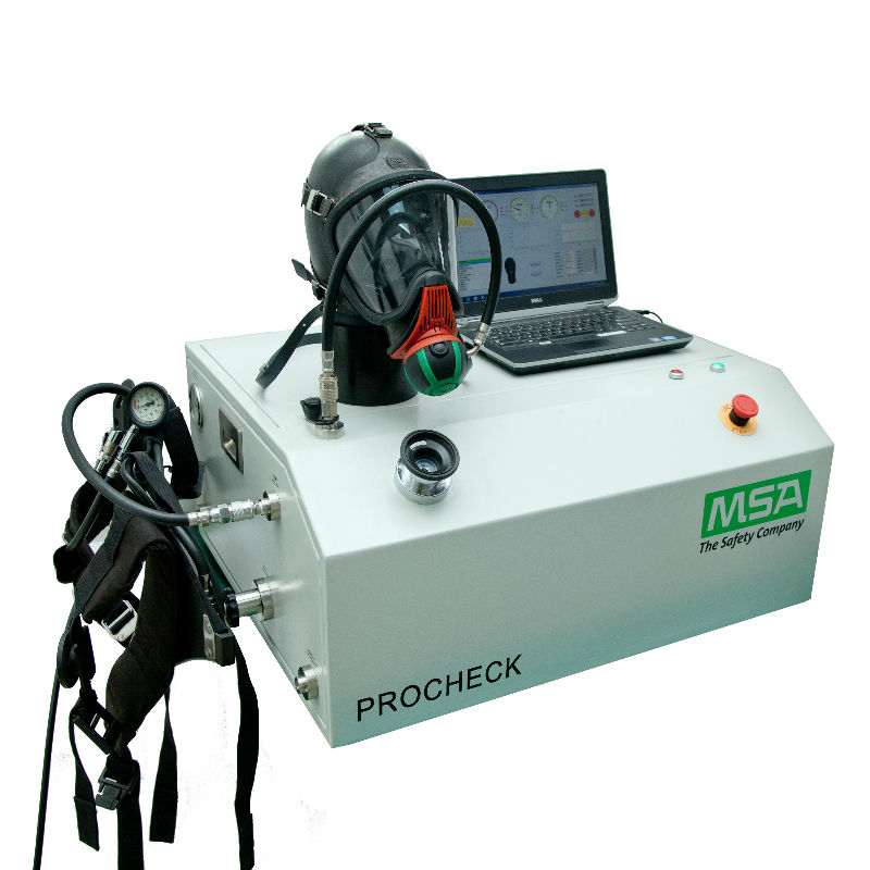 梅思安10164271 Procheck 空呼全性能检测仪 含测试仪机机 电脑 打印机 空呼 转接头