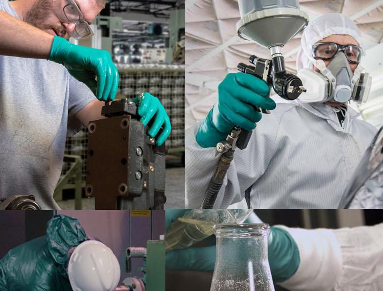 安思尔93260 丁腈氯丁橡胶复合材料一次性手套