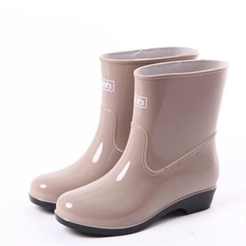 WARRIOR/回力 523卡其色雨靴