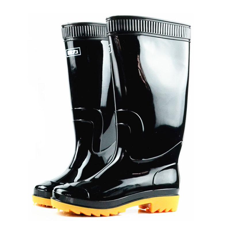 WARRIOR/回力 807高筒黑色雨靴