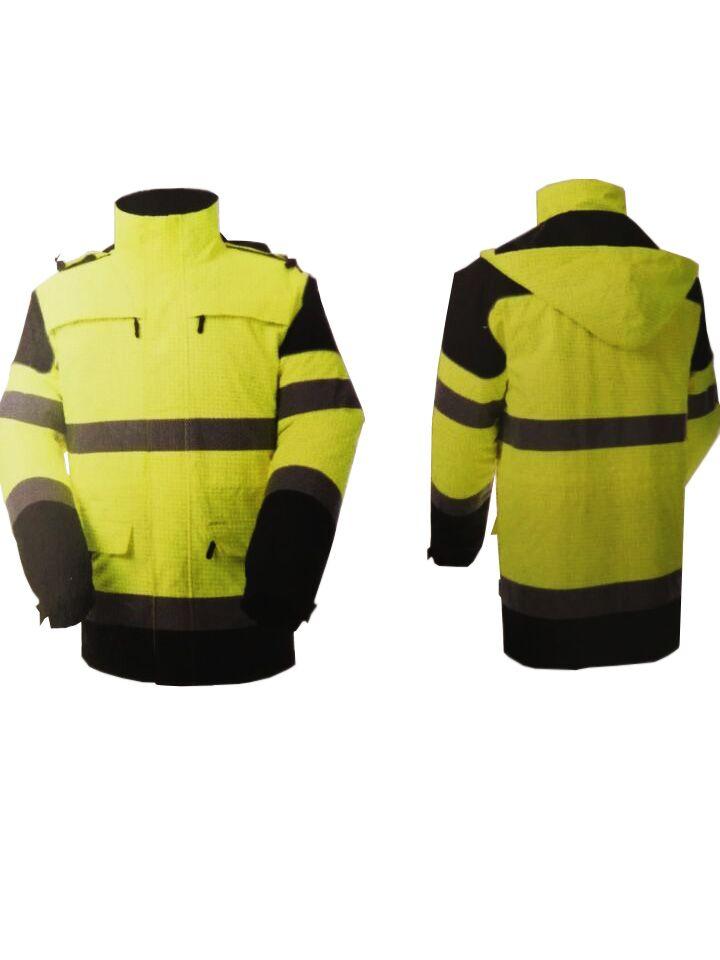雷克兰 851343 AF103高可视荧光黄阻燃抗静电防寒服