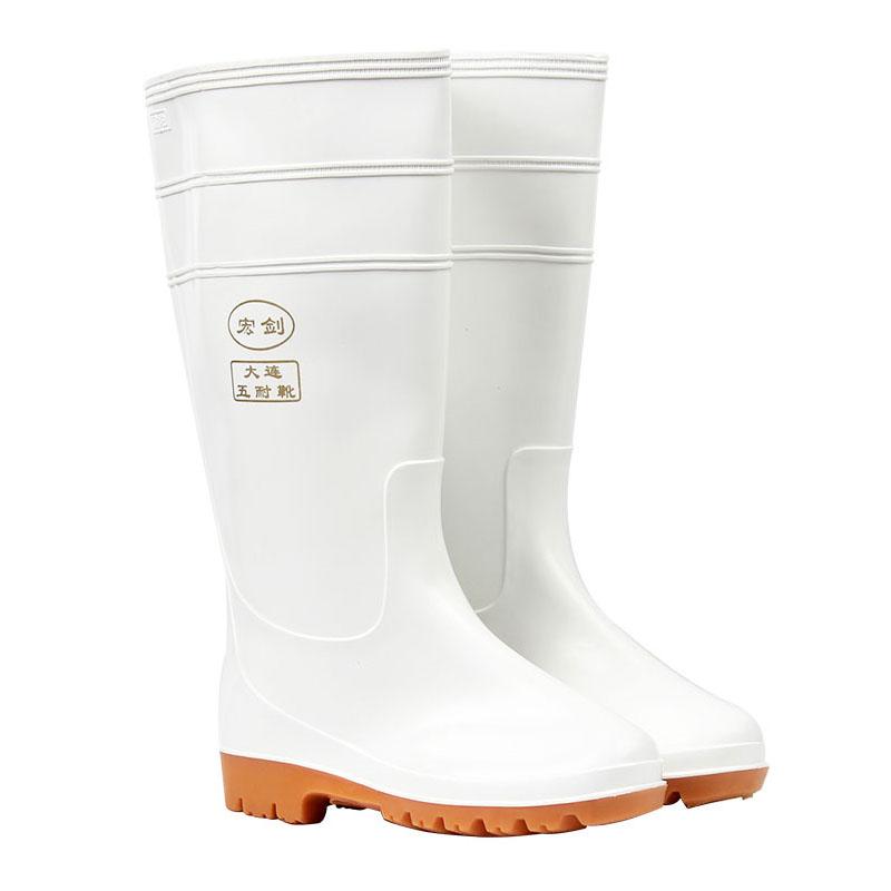 宏剑中筒耐油食品靴  白色  43